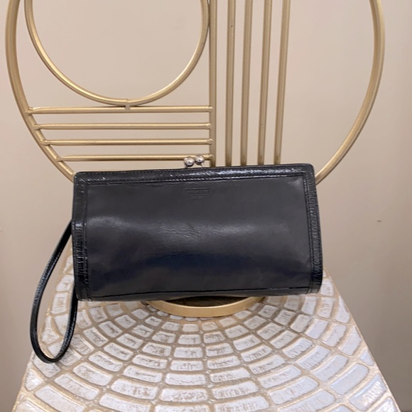 Coach Leather Clutch with Clasp